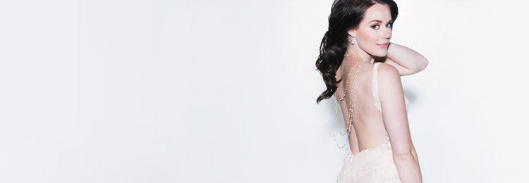 Tessa Virtue posing in jewlery