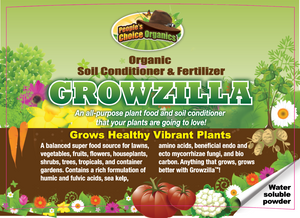Growzilla™ Organic Soil Conditioner & Fertilizer  Everything You Grow, Grows Better With Growzilla!