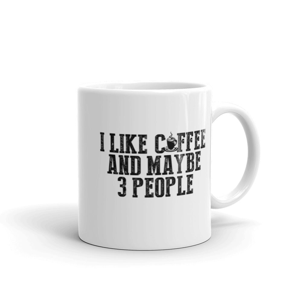 I like Coffee and 3 People Mug