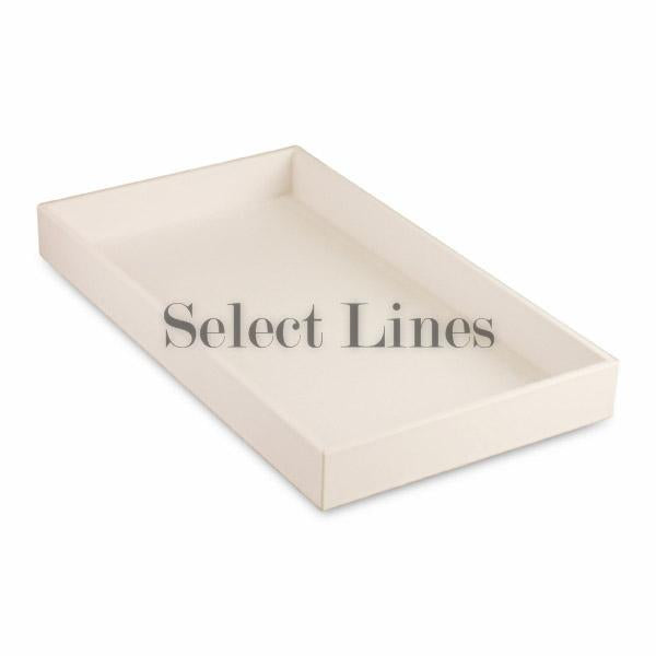 "White Faux Leather Standard Display Tray  1-1/2"" H"