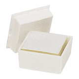 "White Glass Top  Flat Foam Gem Box Display 3/4"" H"