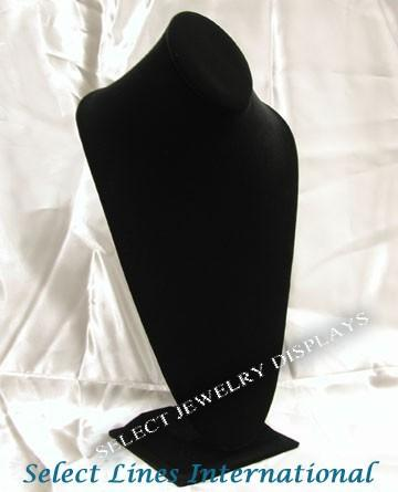 "Black Velvet Neckform Display 14-1/2"" H"