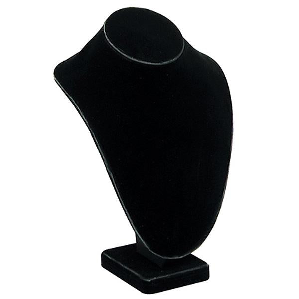 "Black Velvet Neckform Display 11""H"