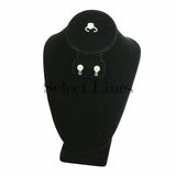 "Black Velvet Neckform Display 10"" H"