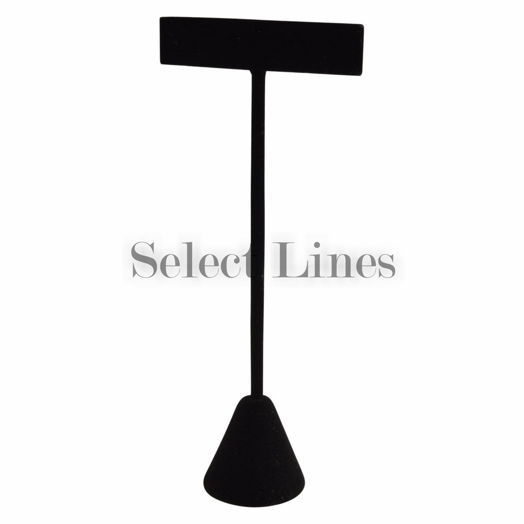 "Black Velvet T-Shape Earring Stand Display 5-3/4""H."