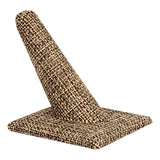 "Burlap Long Finger Square Base Ring Display 2-3/8"" H."