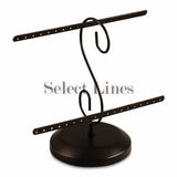 "Black Metal 16 Pair Earring Rack Display 8"" H"