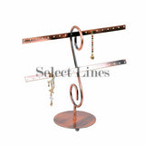 "Copper Metal 16 Pair Earring Rack Display 8"" H"
