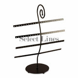 "Black Metal 40 Pair Earring Rack Display 15"" H"