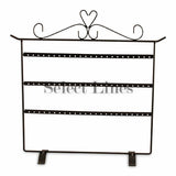 "Black Metal 56 Pair Earring Rack Display 15"" H"