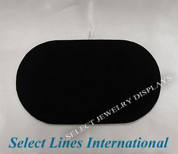 "Black Velvet Oval Pad Display  Tray Insert 7"" H"