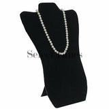 "Black Velvet Easel Necklace Display 14-1/8"" H"