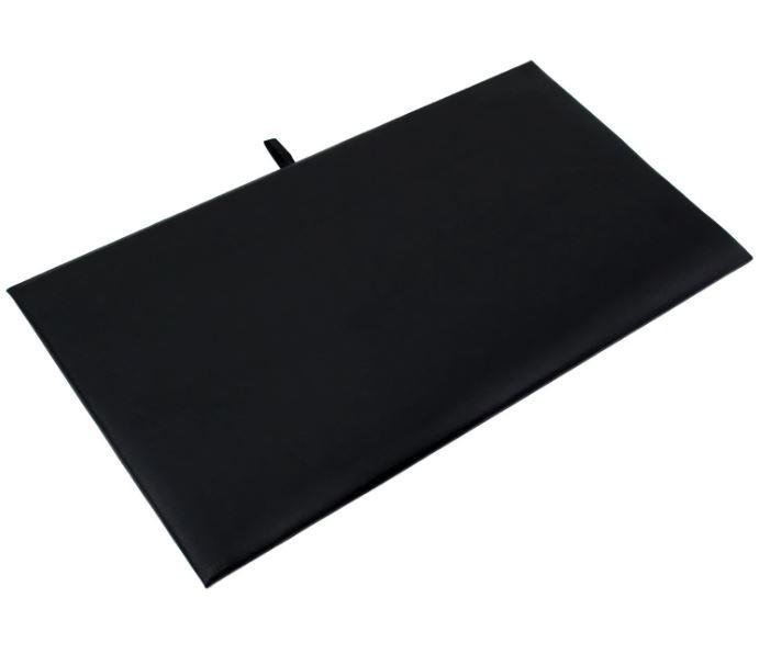 "Black Faux Leather Deluxe Pad Tray Insert 7-5/8"" H"