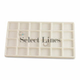 "White Flocked Tray Liner 24-Section Tray Insert 1-3/4"" H"