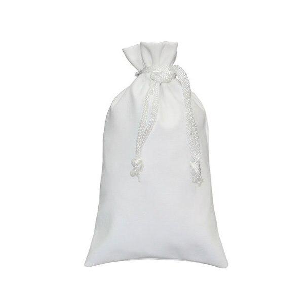 "12pc Pack White Faux Leather DrawString Pouch 4-3/4"" H"