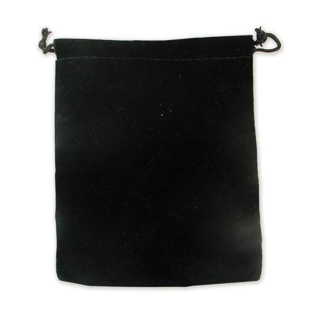 "12pc Pack Deluxe Black Velvet DrawString Pouch 3"" H"