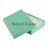 "100pcs Cotton Filled Glossy Teal Blue Gift Box 5.25""x3.75""x1"" H"