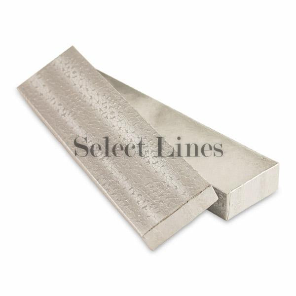 "100pcs Cotton Filled Silver Texture Gift Box 8""x2""x1"" H"