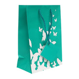 20pc Pack Butterfly Spot Coating Paper Tote Gift Bag 6-3/4
