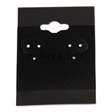 "100pc Pack Plain Black Flocked Hanging Puff Earring Cards 2"" H."
