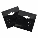 "100pc Pack Flocked Black Hanging Earring Cards 1-1/2""H."