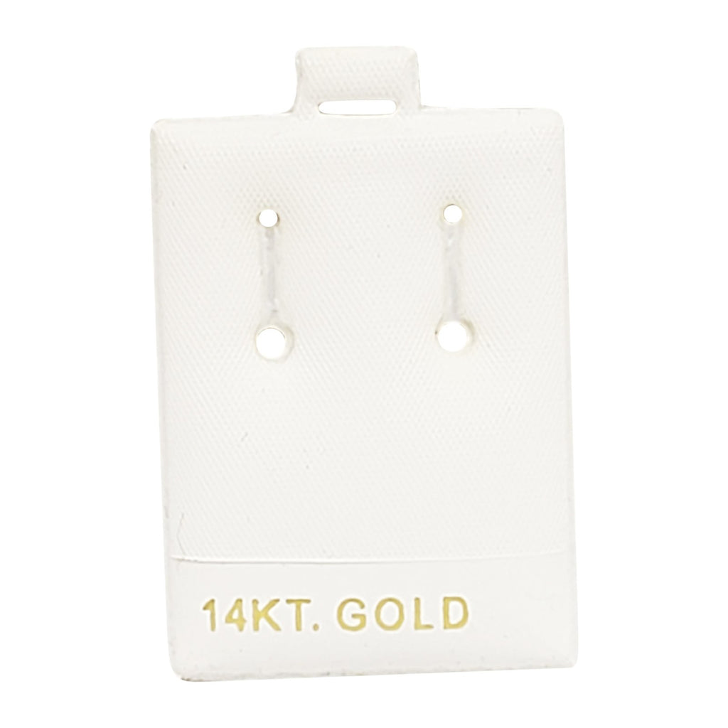 "100pc Pack Vinyl White ""14KT Gold"" Puff Earring Pin Pads 2""H"
