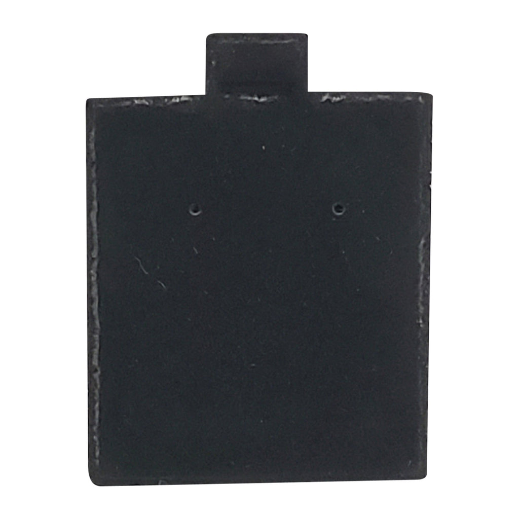 "100pc Pack Plain Black Velvet Puff Earring Pads Cards 1-3/4"" H."