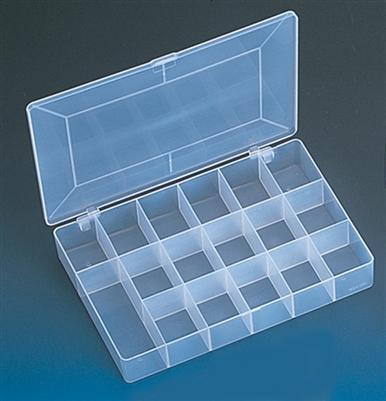 "Frosted Plastic Seventeen Section Organizer Gem Display 1-3/4"" H"