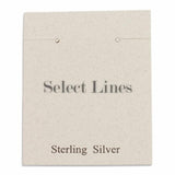 "100pc Pack White ""Sterling Silver"" Earring Cards 2"" H."
