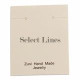 "100pc Pack Beige ""Zuni Hand Made Jewelry"" Earring Cards 2"" H."