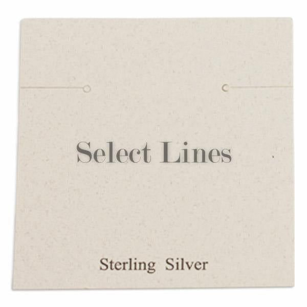 "100pc Pack White ""Sterling Silver"" Earring Cards 2-3/8"" H."