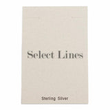"100pc Pack White ""Sterling Silver"" Earring Cards 3-1/2"" H."