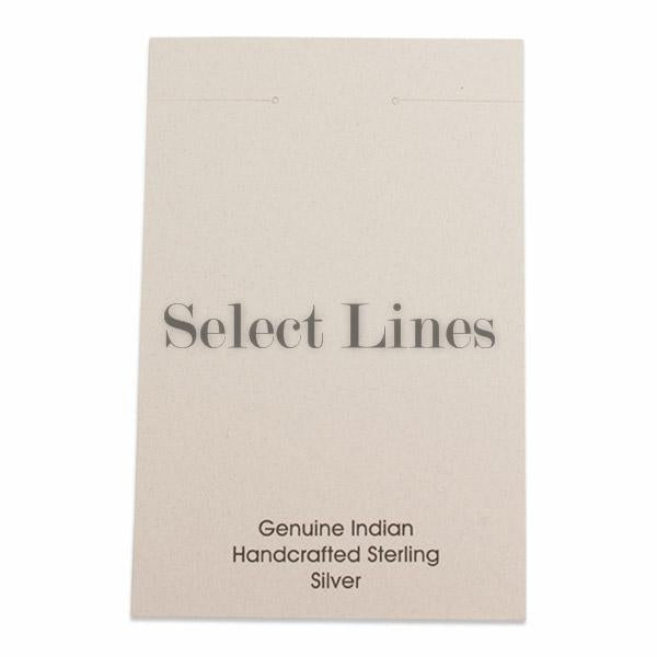 "100pc Pack White ""Genuine Indian Handcrafted Sterling Silver"" Earring Cards 5-1/2"" H."