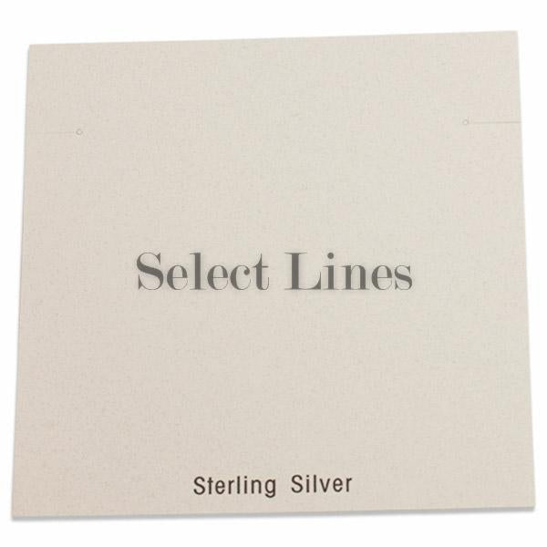 "100pc Pack White ""Sterling Silver"" Earring Cards 5-1/4"" H."
