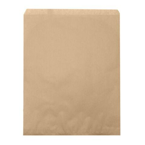 "100pc Pack Plain Kraft Brown Paper Gift Bag 15"" H"