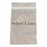 "100pc Pack Re-Sealable Zipper Bags 4""x 6"" H"