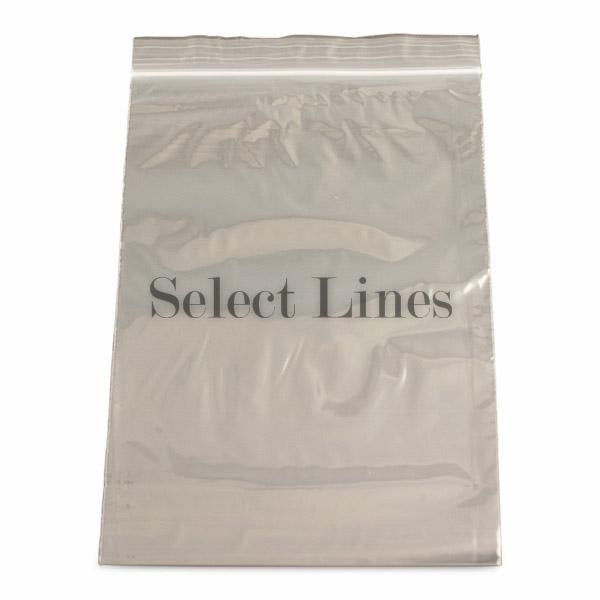 "100pc Pack Re-Sealable Zipper Bags 6""x 9"" H"