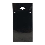 100pc Pack Black Plastic Necklace Hanging Earring Cards 4