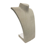 "Grey Linen Neckform Display 14"" H"