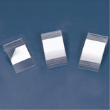 100pc Pack Clear Plastic Hang Tab 100 Hang Tabs 1-5/8