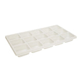 "White Durable Textured Plastic Fifteen Section Tray Liner Tray Insert 1-3/8"" H"