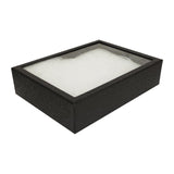 Black Sturdy Cardboard Glass Top Panel Gem Display 6