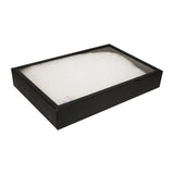 "Black Sturdy Cardboard Glass Top Panel Gem Display 8"" H"