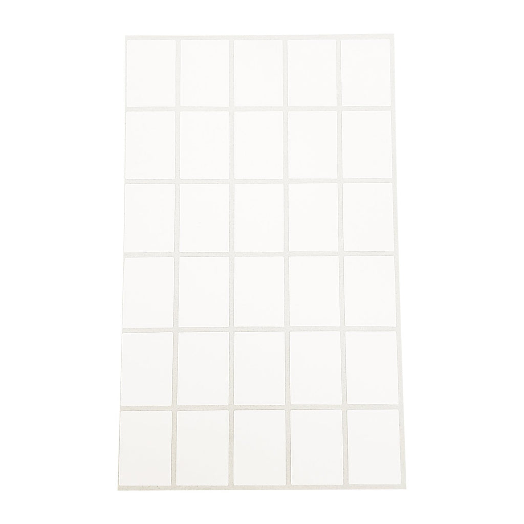 "1020pc Pack Self Adhesive Square Plain Label White Tags 7/8"" H"