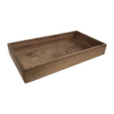 "Antique Ash Wood Finish Standard Display Tray  2"" H"
