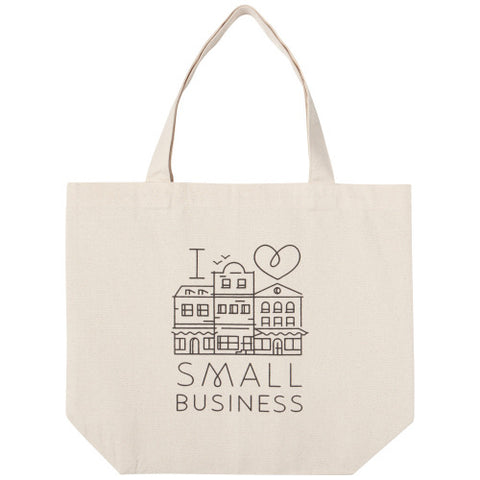 Wide Tote Bag I Love Small Business