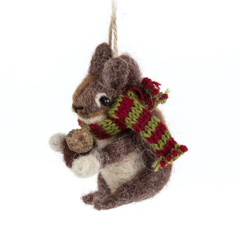 Ornament Squirrel with Scarf