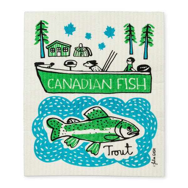 Swedish Dishcloth Canadian Fish - Set of 2