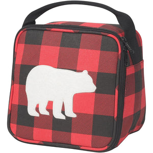 Lunch Bag Buffalo Check Bear