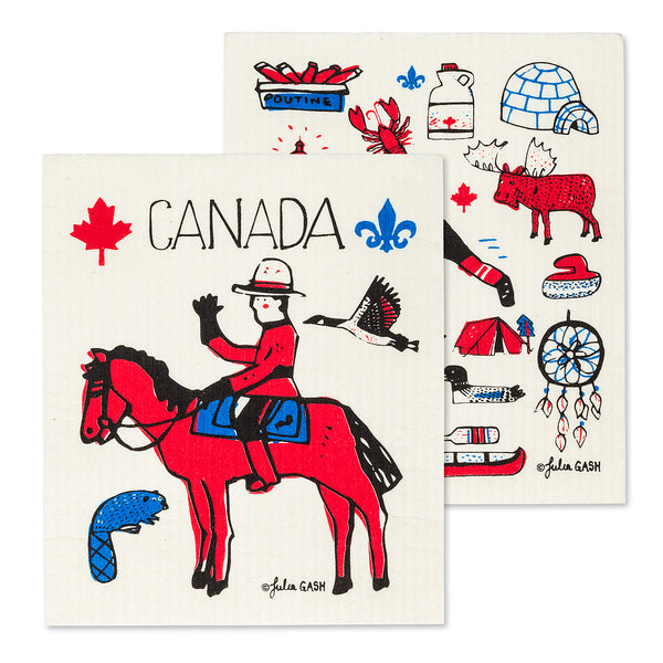 Swedish Dishcloth Canada Icons - Set of 2